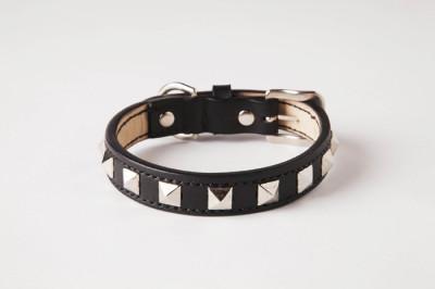 犬の首輪mb004【美錠バックル首輪】mb004本革ブラックスタッズ中型犬<M・L>
