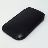 犬の首輪mgs008本革スマートフォンケース シンプルタイプ ブラック