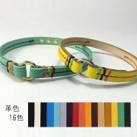 犬の首輪ch001【チョーカー】ch001本革ステッチ color 16色 小型犬~大型犬